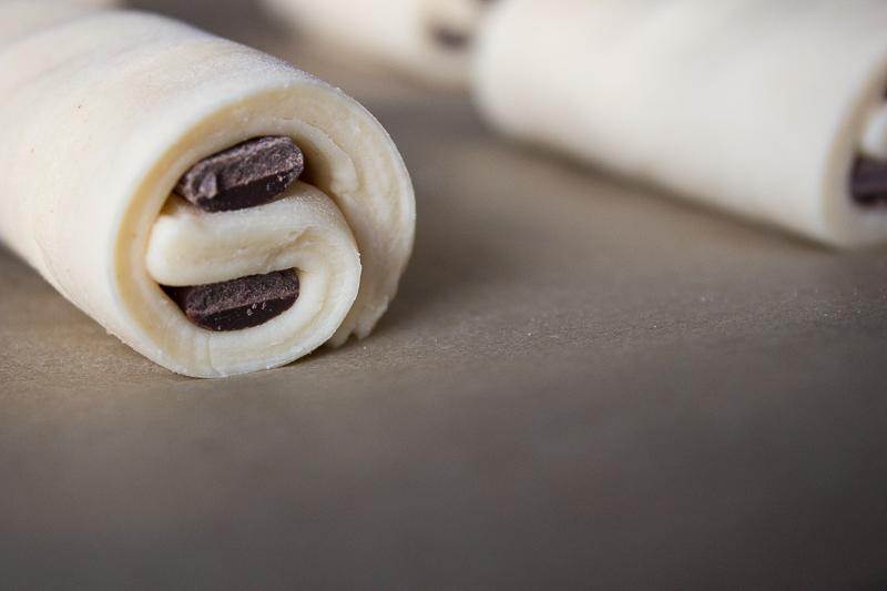 Pains au chocolat avant cuisson