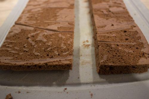 Biscuit chocolat pour bûche