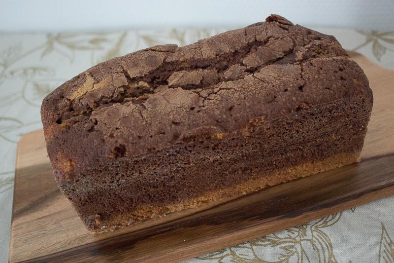 Cake marbré après cuisson