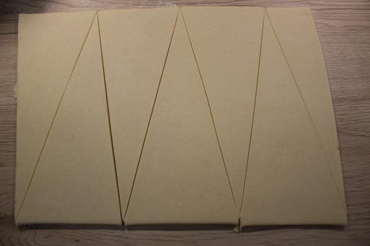 Triangles pour les croissants