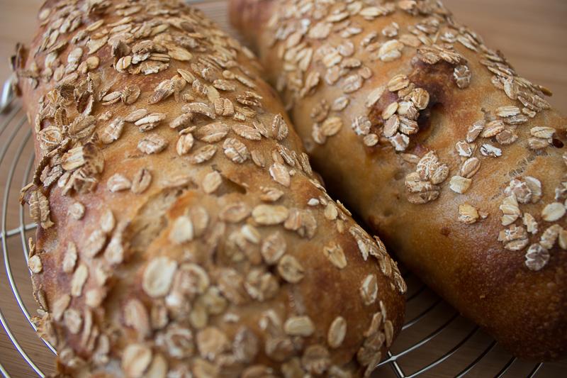 Le pain au muesli après cuisson