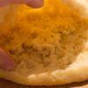 Intérieur du pain kebab
